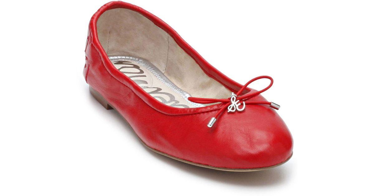 24d12dd6c36bce Sam Edelman Felicia Leather Flats in Red - Lyst