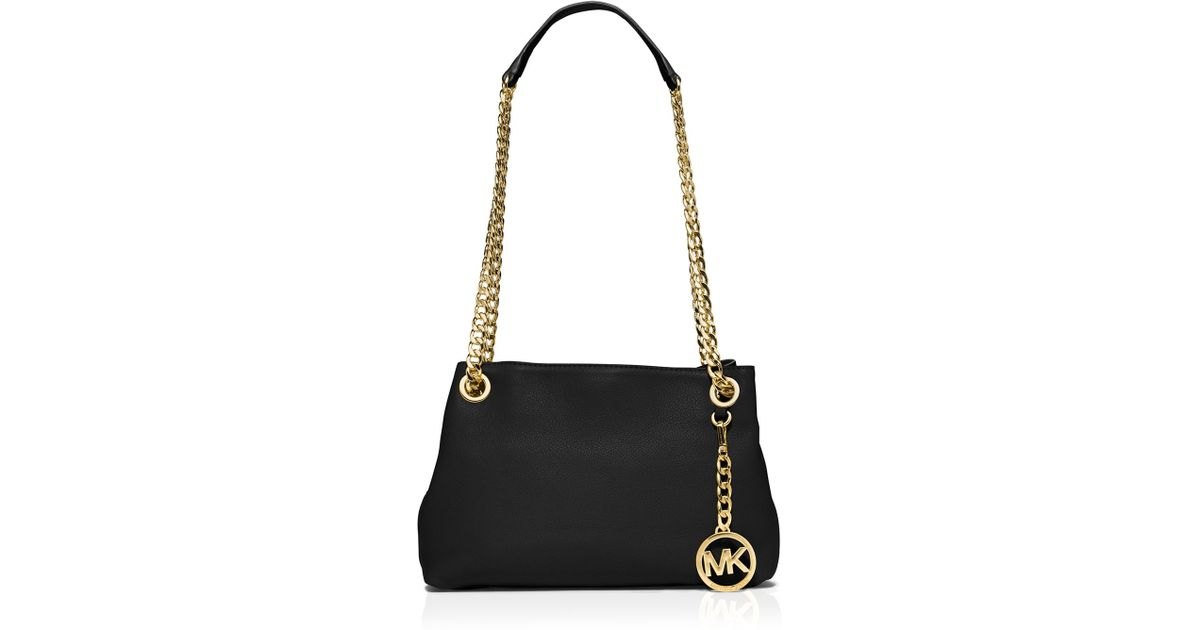 60b8874c843e MICHAEL Michael Kors Shoulder Bag - Jet Set Medium Messenger in Black - Lyst
