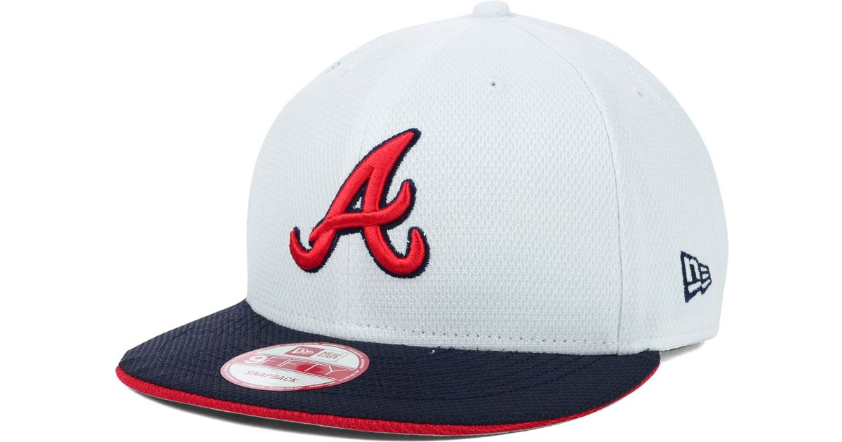 93ee1f936cf ... low cost lyst ktz atlanta braves mlb white diamond era 9fifty snapback  cap in white for