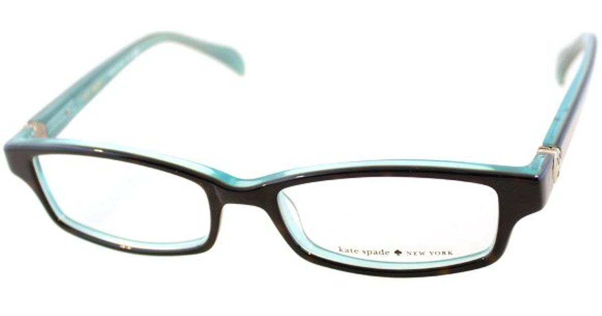 Lyst - Kate Spade New York Ks Elisabeth Jey Tortoise Aqua Rectangle ...