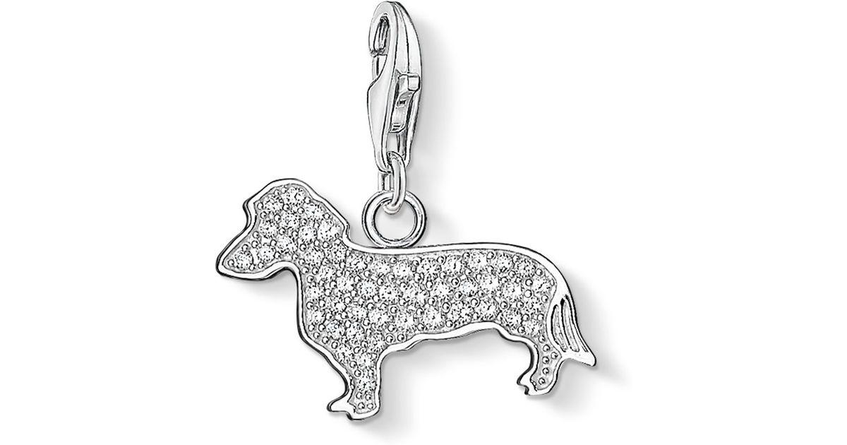 Thomas Sabo Charm Club Dog Pendant In Metallic Lyst