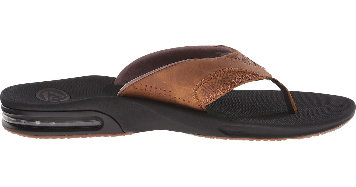 126662308a3a Lyst - Reef Fanning Leather in Brown for Men