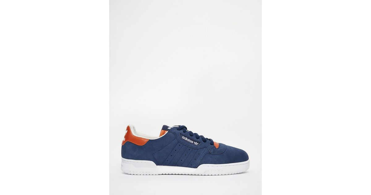 efac72be47846 Lyst - adidas Originals Powerphase OG Suede Low-Top Sneakers in Blue for Men