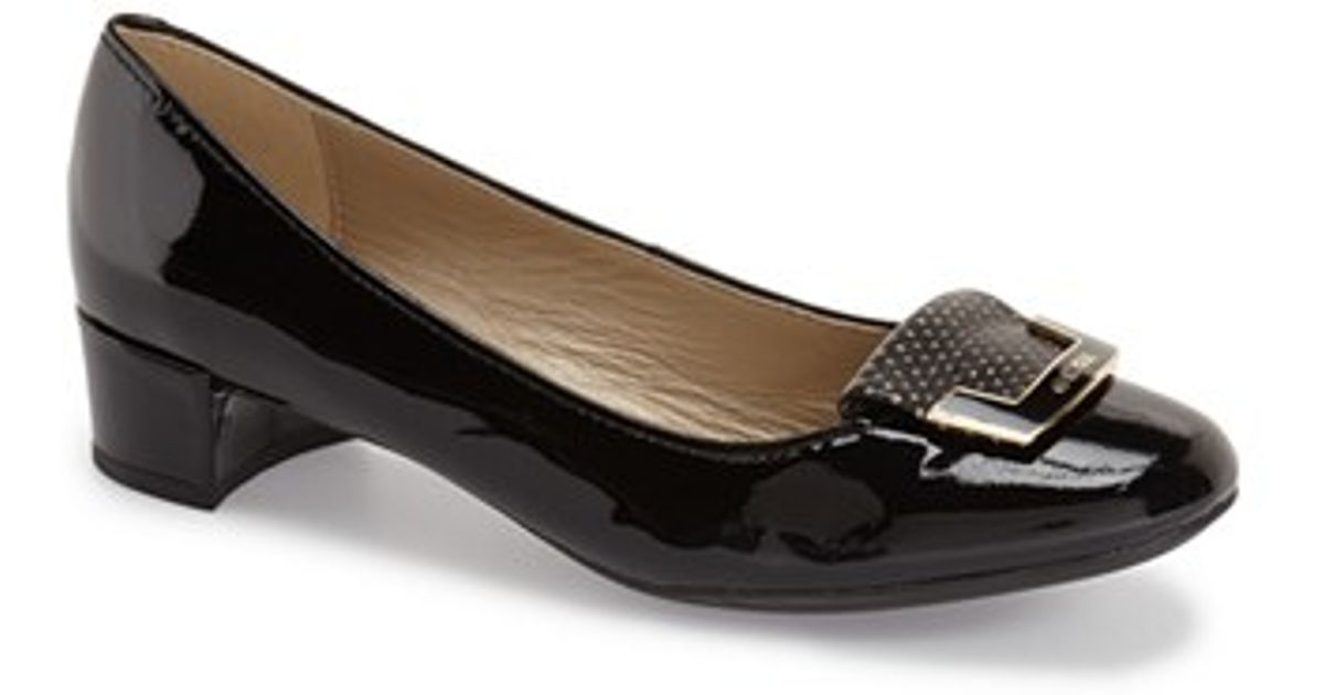 geox carey 11 patent leather ballet flats in black lyst