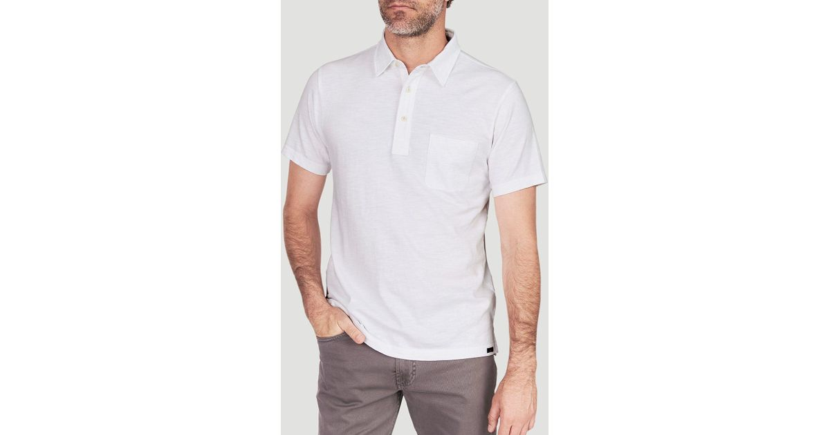 d991c07548a1 Faherty Brand Sunwashed Polo in White for Men - Lyst