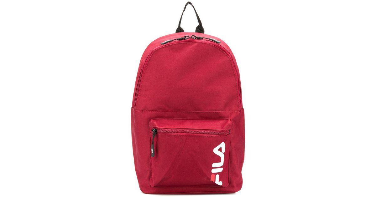 f6840fb286 Fila Contrast Logo Backpack in Red for Men - Lyst