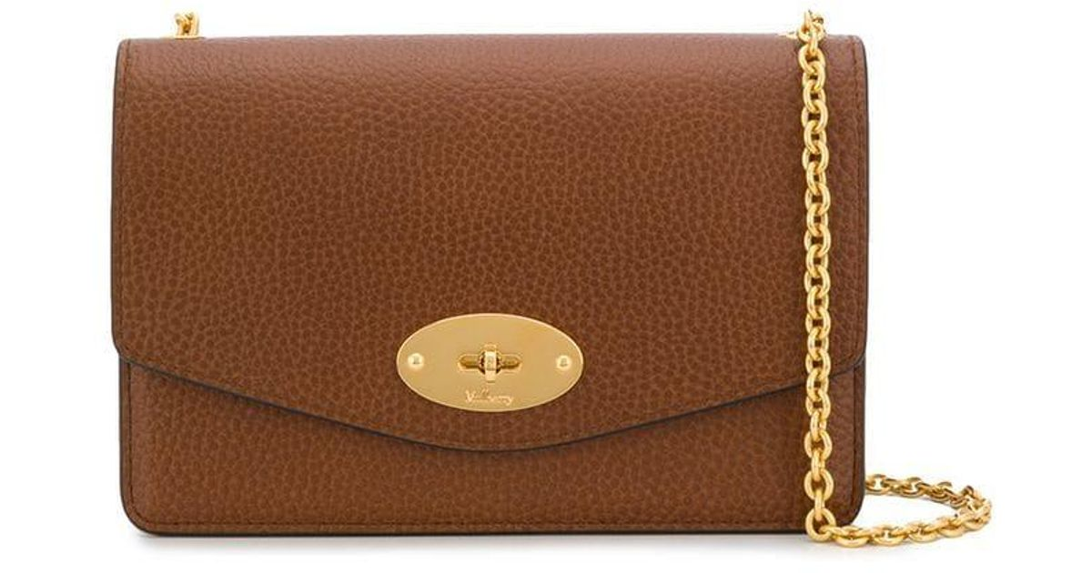 3bab957a47 Mulberry Foldover Chain Crossbody Bag in Brown - Lyst