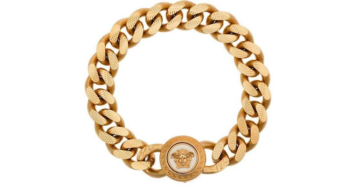 Billiger Preis Niedriger Verkaufspreis Gute Preise Versace Armband mit Medusa in Metallic für Herren