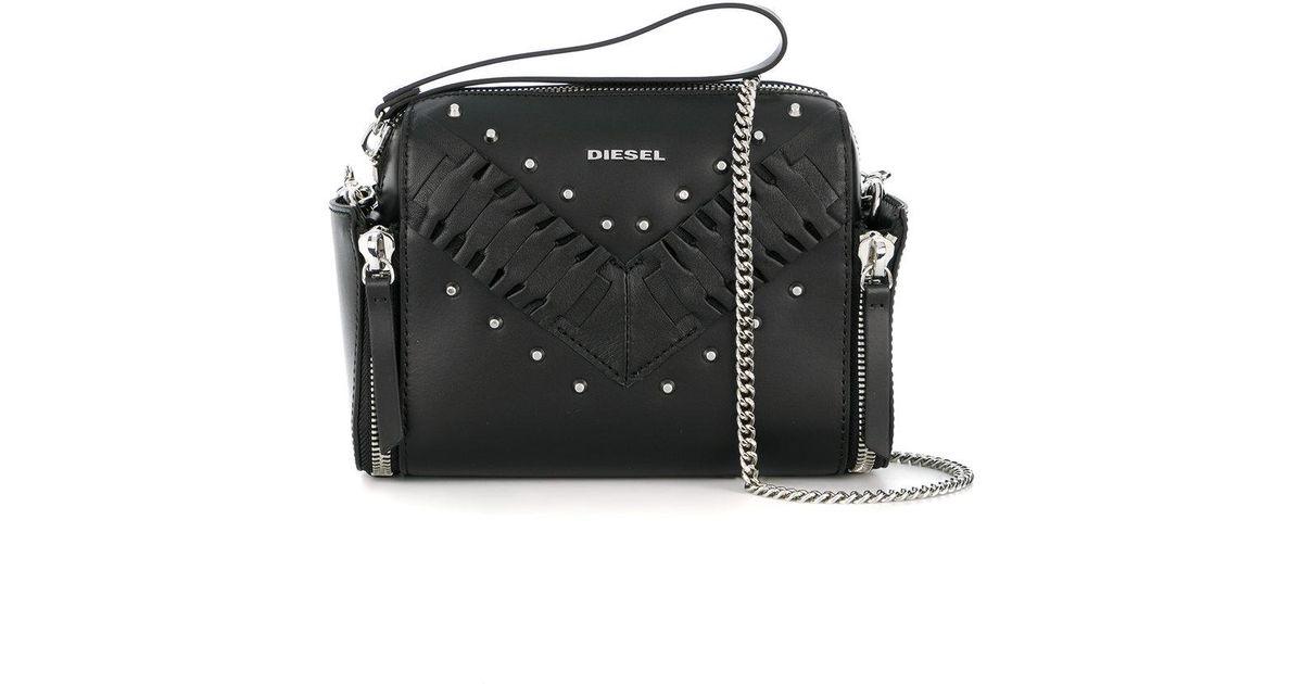 Sel Black Studded Crossbody Bag