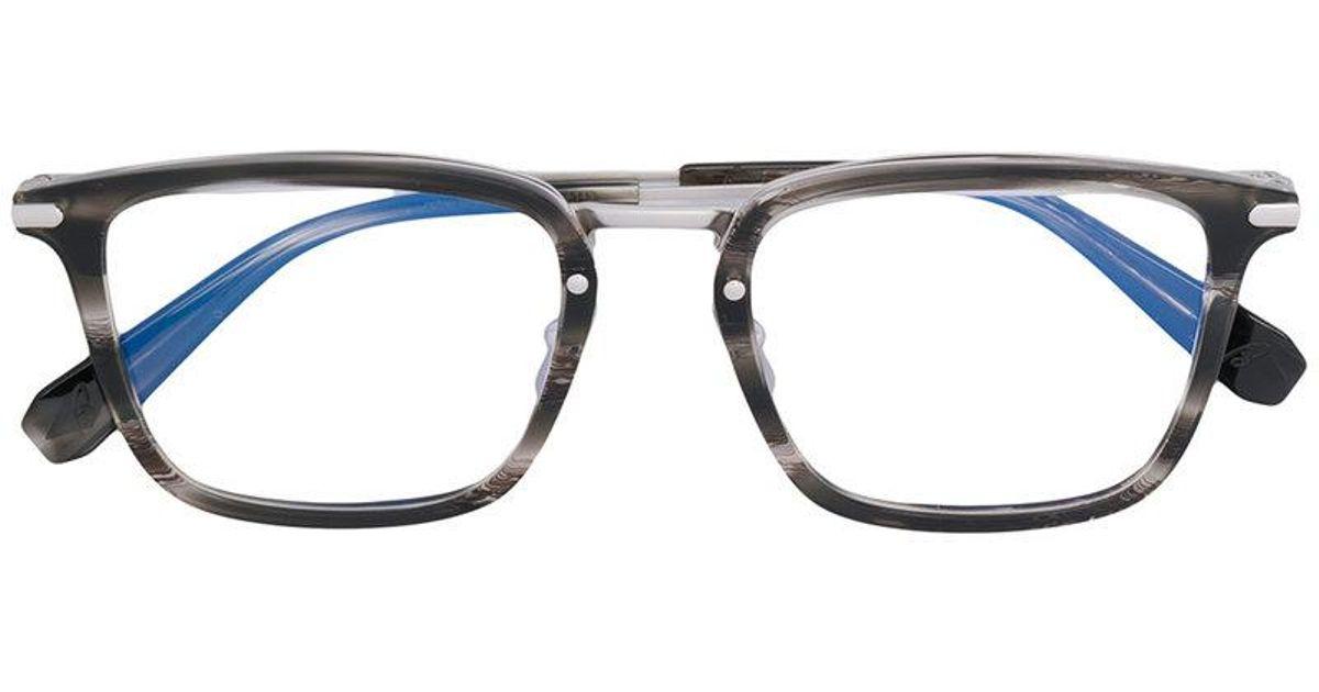 Lyst - Brioni Rectangle Frame Glasses in Black for Men