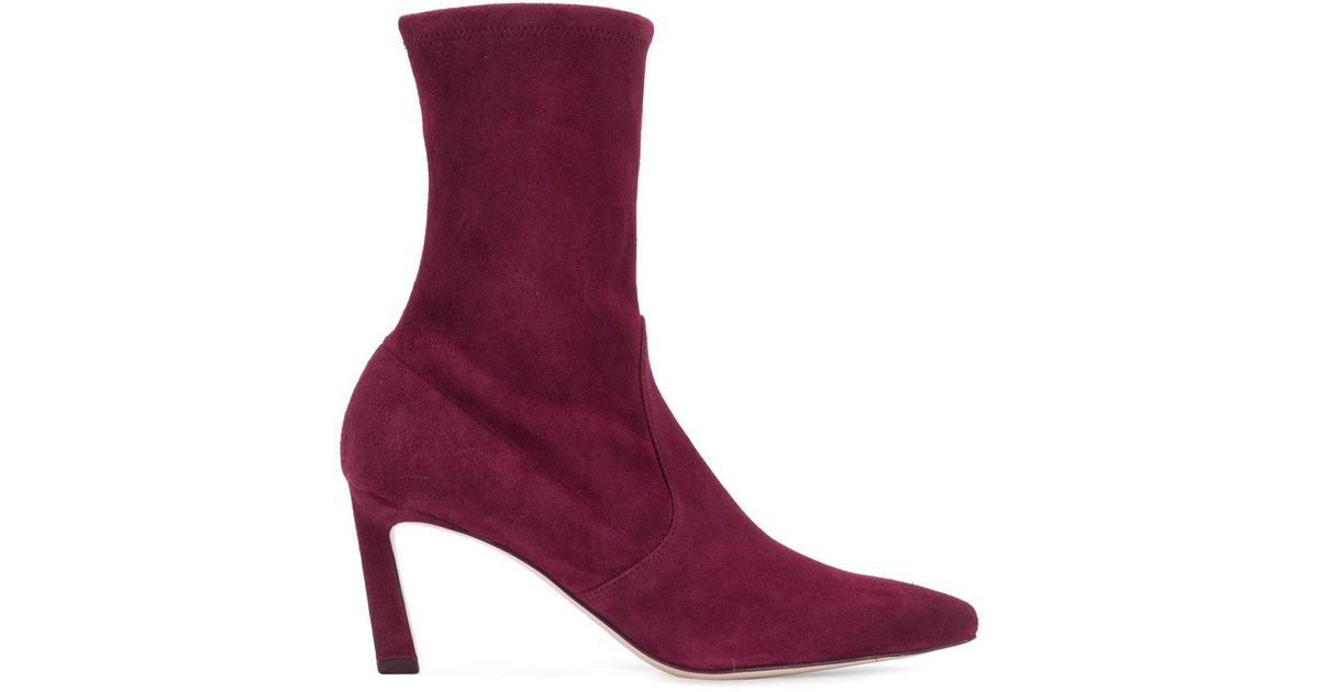 Rapture 75 boots - Red Stuart Weitzman