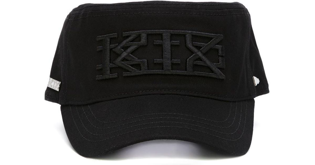 Lyst - KTZ X New Era Embroidered Logo Military Cap in Black 5cb8a61fdbe