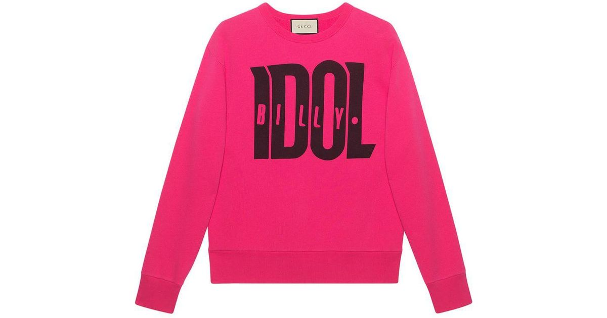 65cf8d06f3c Gucci Sweatshirt With Billy Idol Print in Pink for Men - Lyst