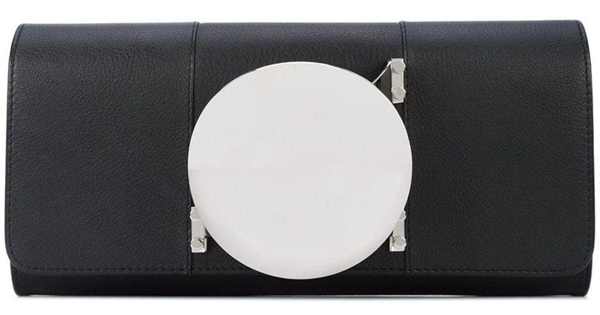 asymmetric Glove clutch - Black Perrin Paris 5UPyHG0Uu