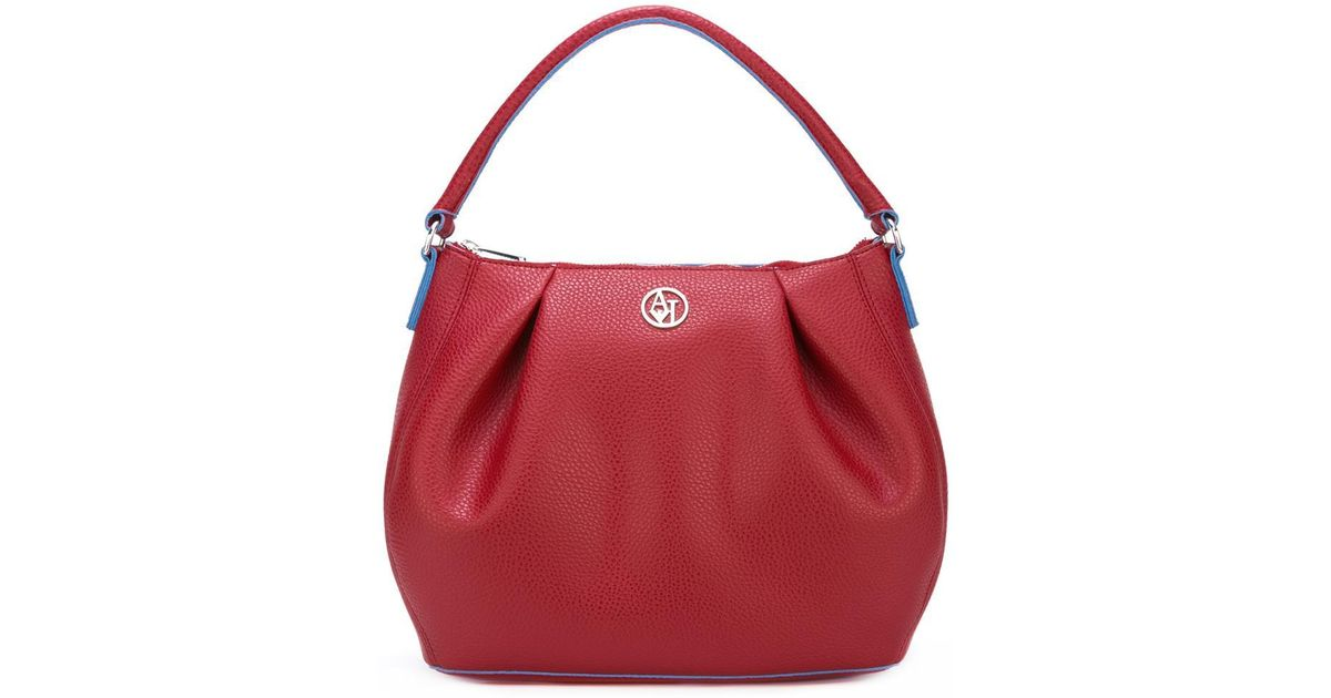 fcfe98103325 Lyst - Armani Jeans -  matt  Shoulder Bag - Women - Polyester pvc - One  Size in Red