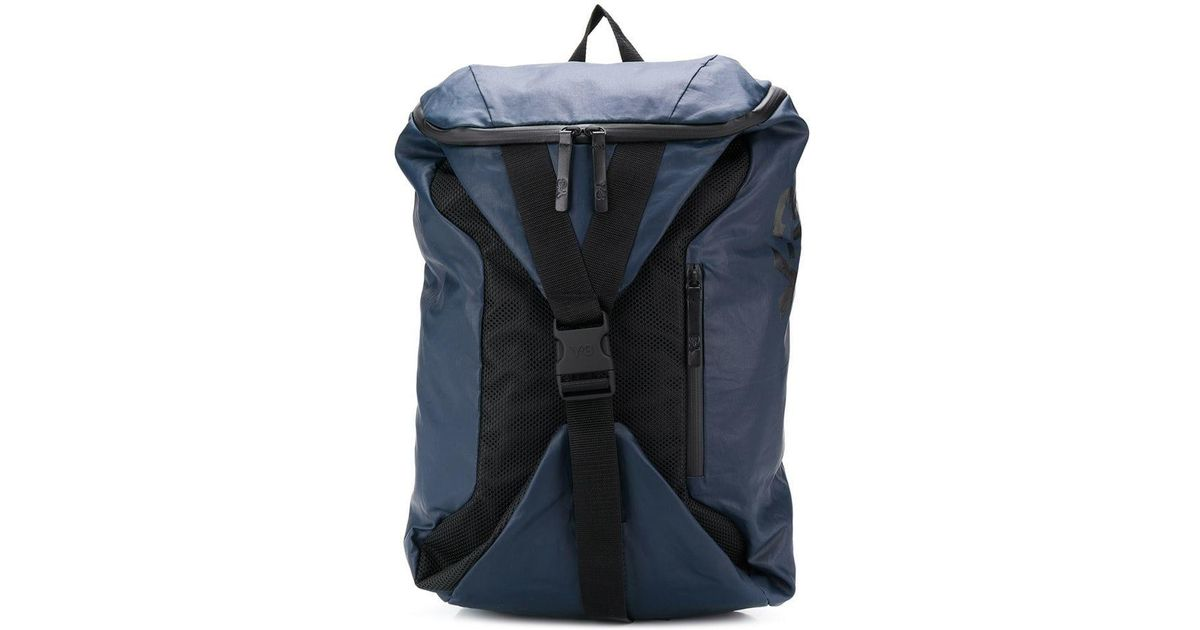 2ead0062a3fe Y-3 Base Backpack in Blue - Lyst
