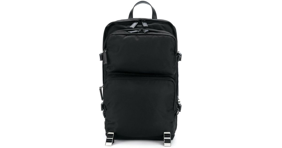 ddd36cf609de Lyst - Prada Classic Zipped Backpack in Black for Men