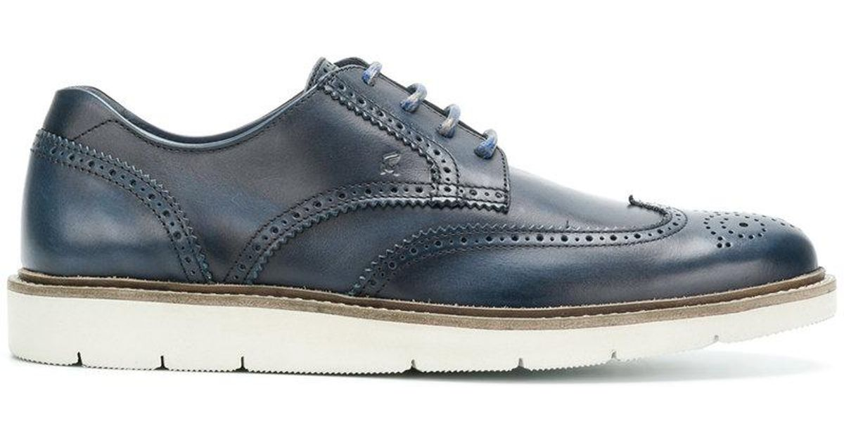 Top Quality For Sale Limited Edition Sale Online ridged sole Oxford shoes - Blue Hogan Finishline Cheap Price Limit Offer Cheap qJtcHKqec1