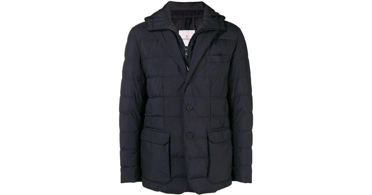 Lyst - Moncler Vernoux Hooded Blazer Jacket in Black for Men - Save 39.31398416886544%