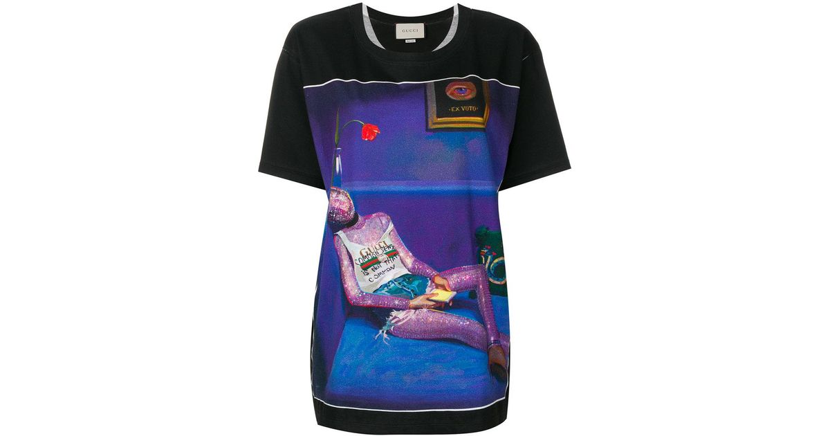 affb5fd54 Gucci Ignasi Monreal Print T-shirt in Black - Lyst