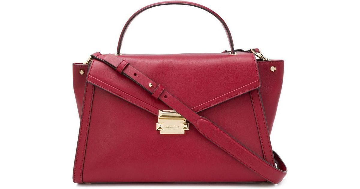 6e069a934b67 ... hot lyst michael michael kors whitney tote bag in red 066ed 77ea7