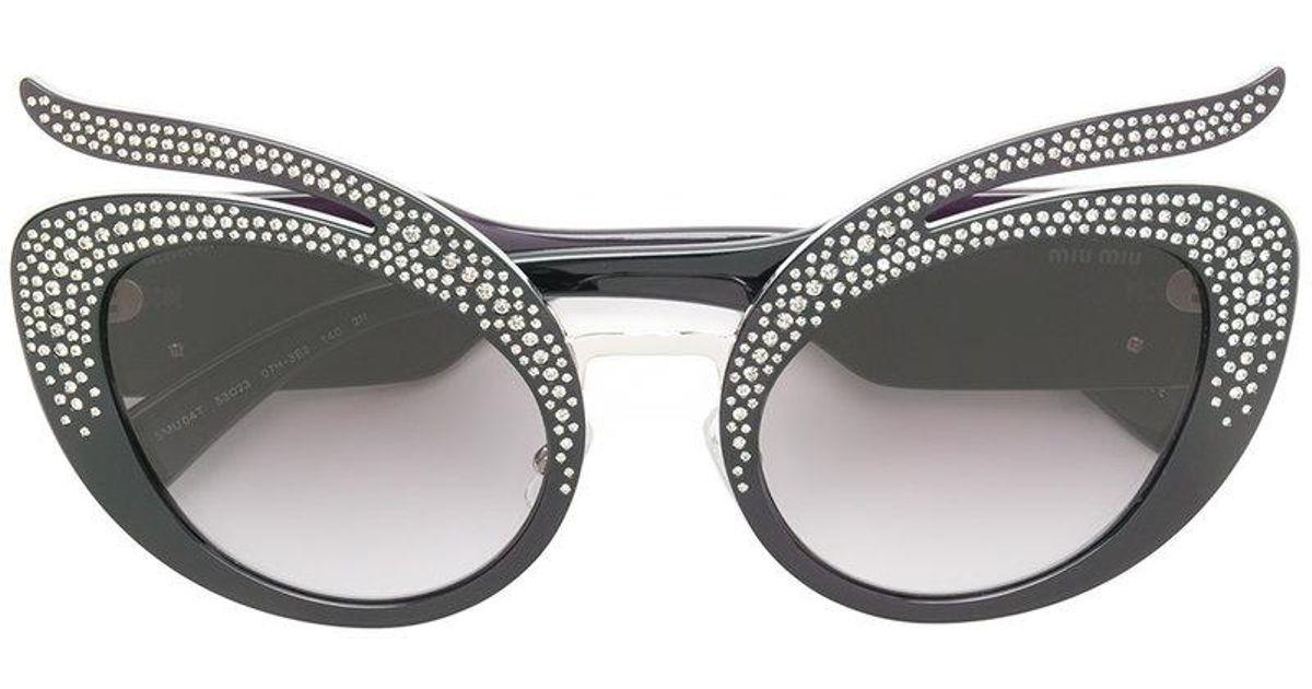 Swarovski crystal-embellished sunglasses - Black Miu Miu Eyewear ynQ7pV