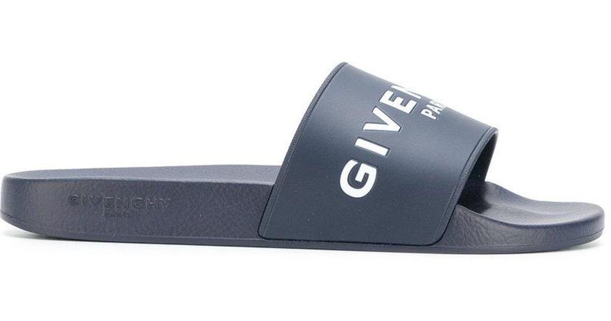 e3250553ff7 Lyst - Claquettes à logo Givenchy pour homme en coloris Bleu