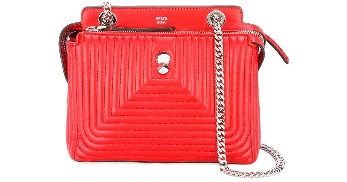 e8b3825a94ff Lyst - Fendi Dotcom Click Shoulder Bag in Red