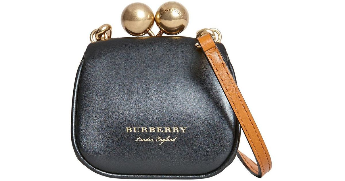6ebae2b36e78 Burberry Mini Metal Frame Clutch Bag in Black - Lyst