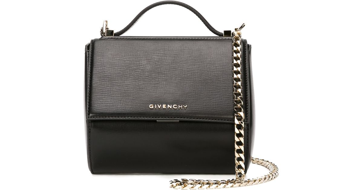 Lyst - Givenchy Pandora Box Leather Cross-Body Bag in Black a2382b17ab72b