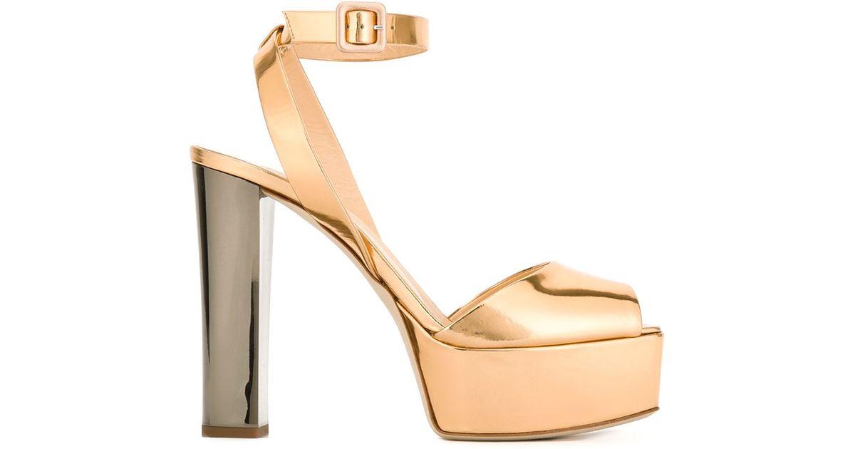 5a29dced21a Lyst - Giuseppe Zanotti  betty  Platform Sandals in Metallic