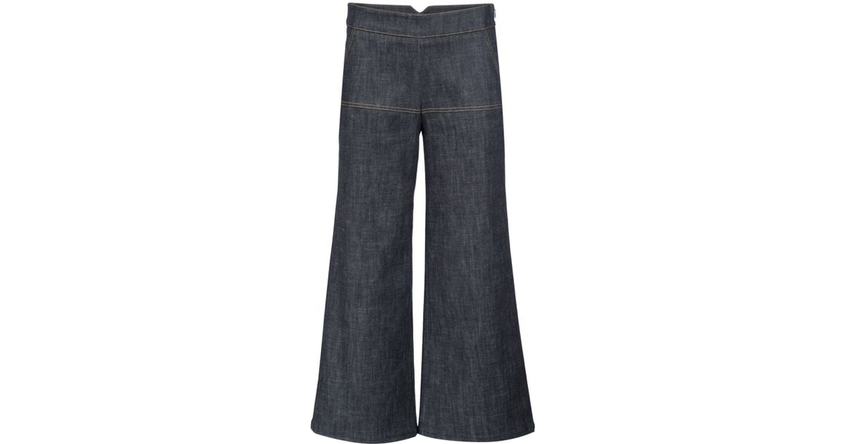 Derek Lam Bootcut Cropped Trousers In Blue