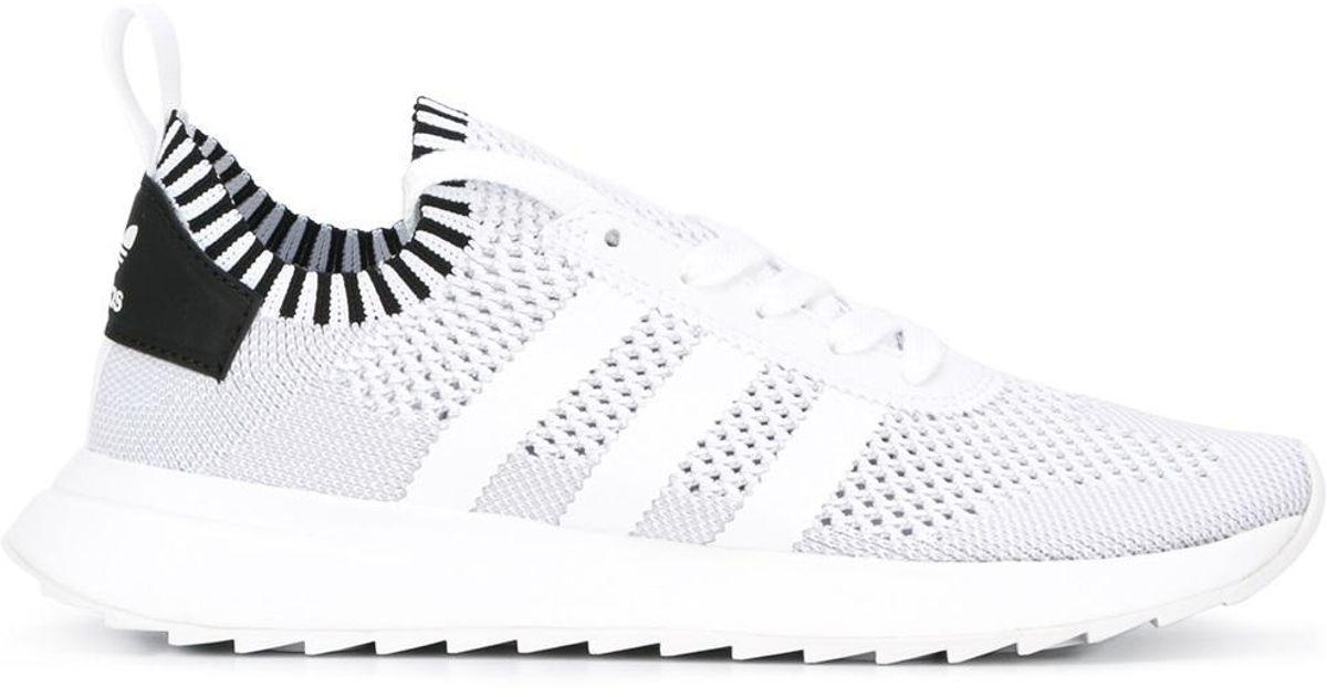 ae514155159 Lyst - adidas Originals Flashback Primeknit Sneakers in White