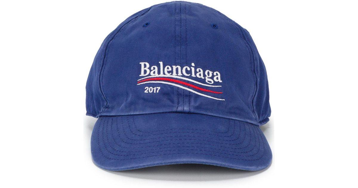 aa9ea61b705 ... Lyst - Balenciaga 2017 Logo Cap in Blue for Men free delivery deda3  882d2  Balenciaga 2017 baseball ...