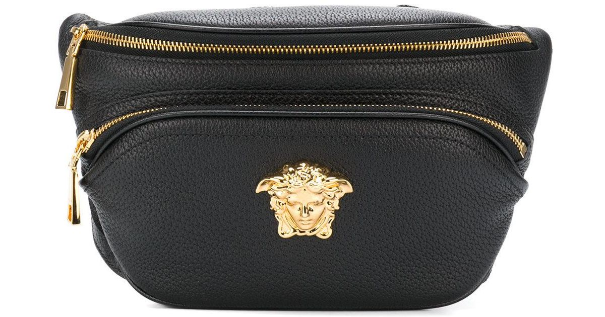 f84fd00545bb Versace Palazzo Belt Bag in Black for Men - Lyst
