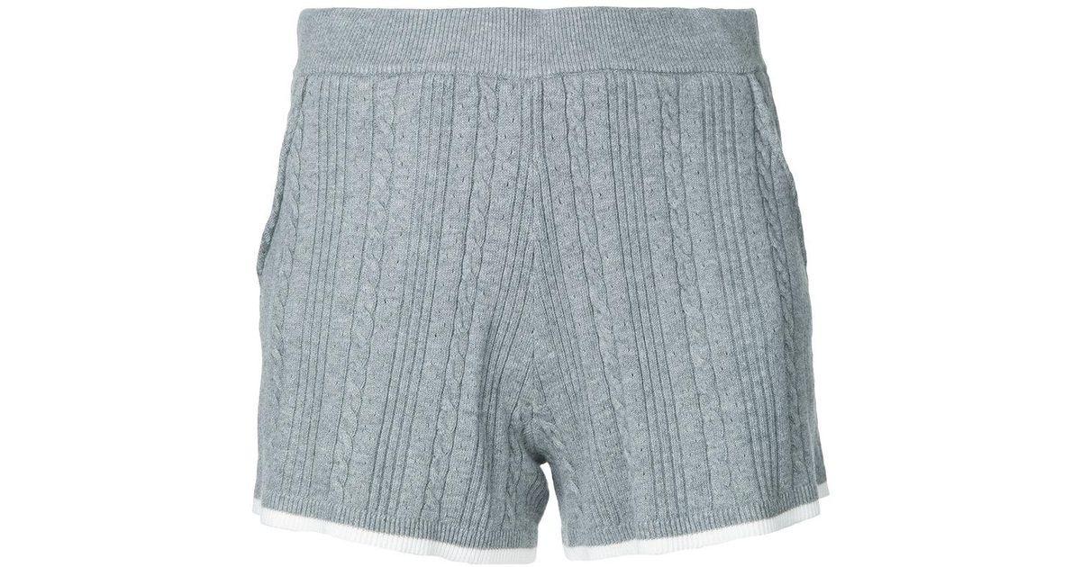 contrast trim shorts - Grey Guild Prime 2kvyocX