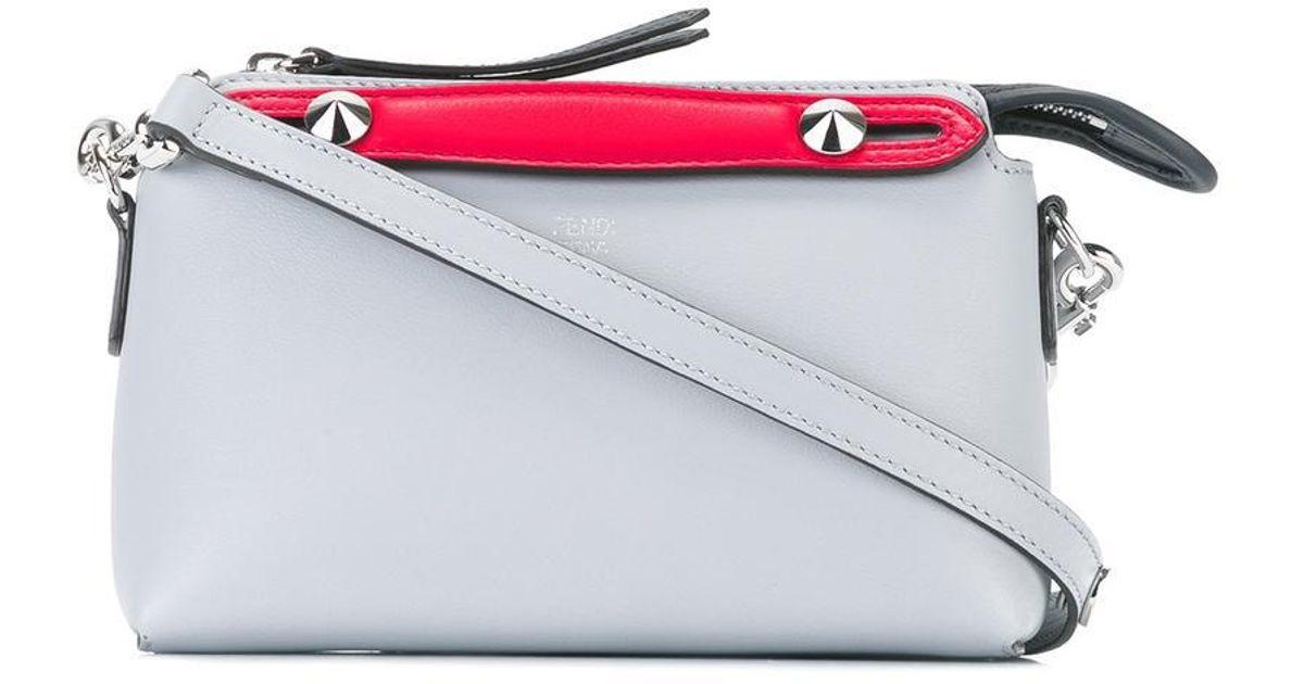 057f2e2487ac Fendi Mini By The Way Crossbody Bag in Gray - Lyst