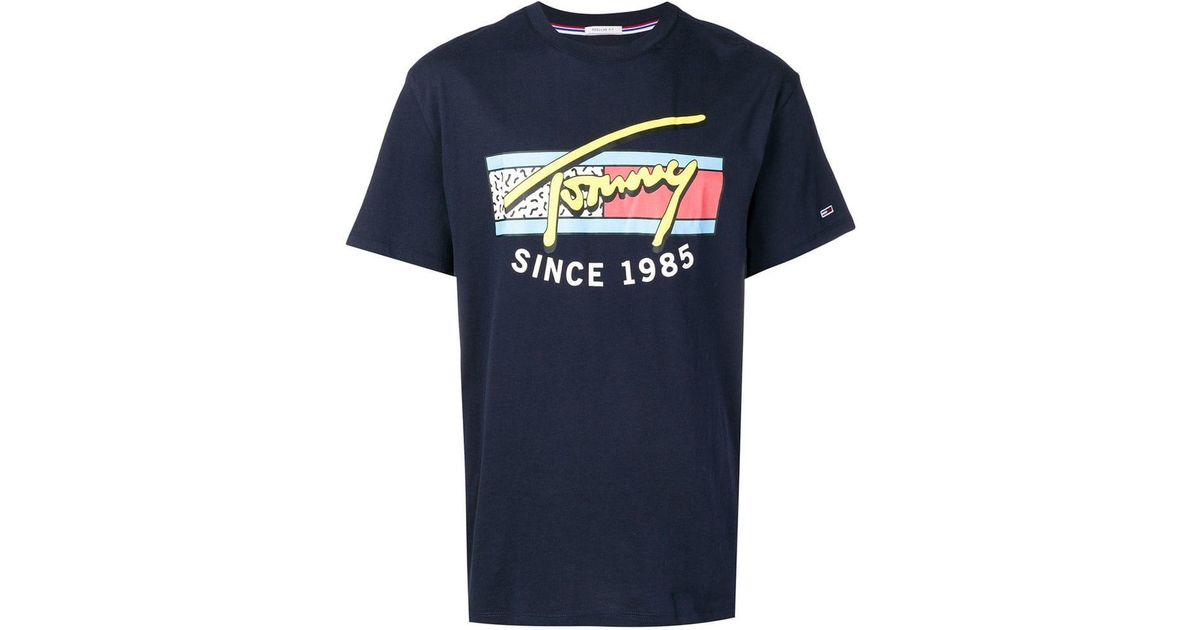 f0b030ac Tommy Hilfiger Neon Script T-shirt in Blue for Men - Lyst