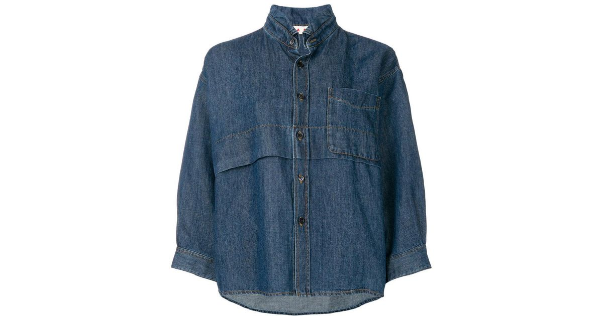 Outlet Looking For Cheap Price Top Quality boxy fit shirt jacket - Blue Marni Sale Great Deals Sale Best Classic fcyekHklE