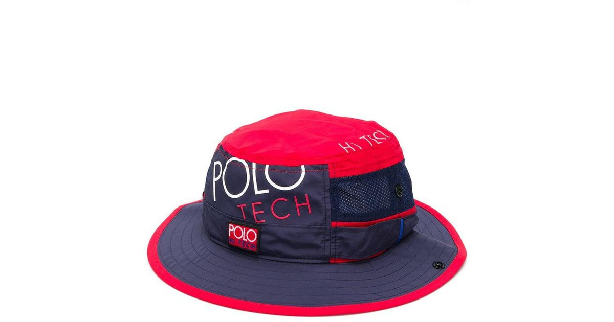 c883db85 Polo Ralph Lauren Polo Tech Bucket Hat in Red for Men - Lyst