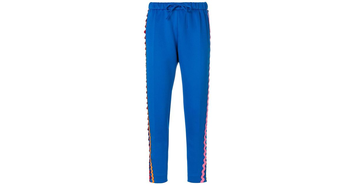 wave side panel straight trousers - Blue Mira Mikati Discount Cheap Online Clearance Store Latest Collections For Sale 0QqiKU1