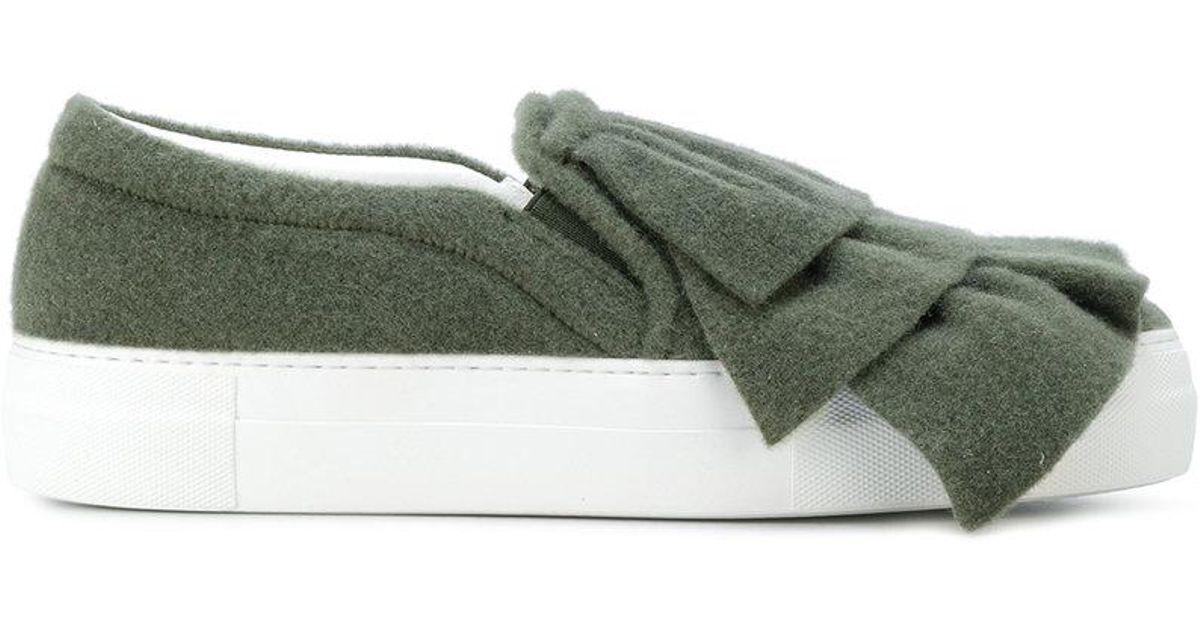 layered slip-on sneakers - Green Joshua Sanders wdOyzly