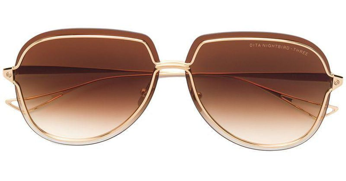 In Metallic Dita Three Eyewear Sunglasses Nightbird Lyst wX6pH