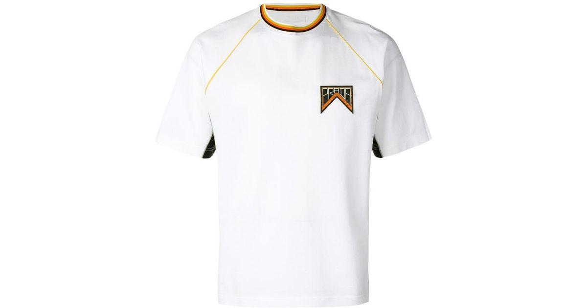 78e545b8a Lyst - Prada Logo T-shirt in White for Men