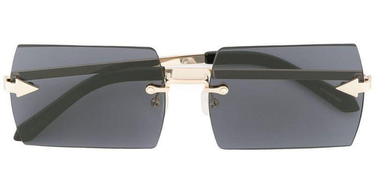 1a991d896667 Lyst - Karen Walker The Bird Sunglasses in Black