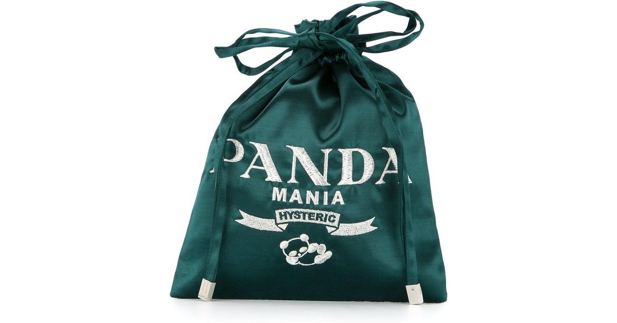 Discount Get To Buy Panda Mania drawstring clutch bag - Black Hysteric Glamour Outlet Best Sale Discounts Cheap Online Free Shipping Release Dates 2wUDQ0ZKs