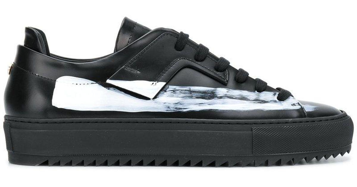 paint stripe detail sneakers - Black OAMC SrOMxkeH