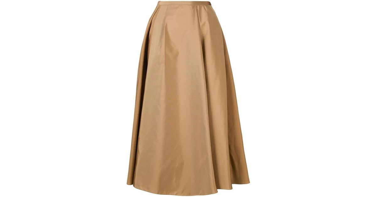 36c26d7363 Lyst - Rochas Pleated A-line Skirt in Brown