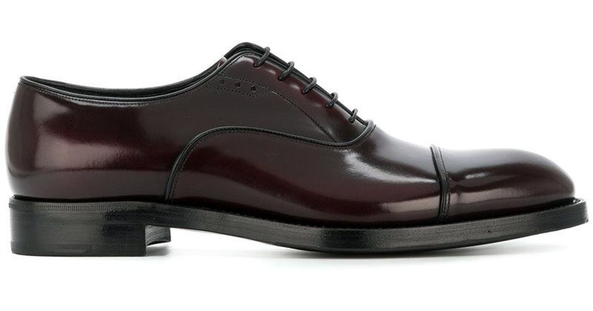Prada Patent Oxford Shoes In Red For Men | Lyst