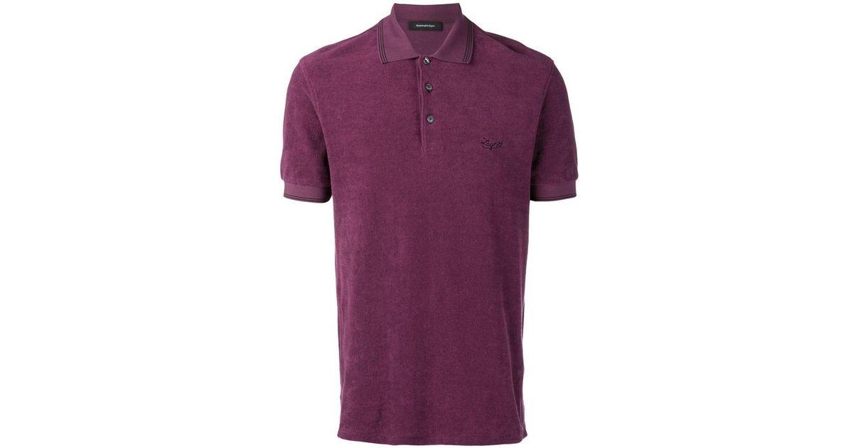 e077b2f9 Ermenegildo Zegna - Purple Mm Polo Shirt for Men - Lyst